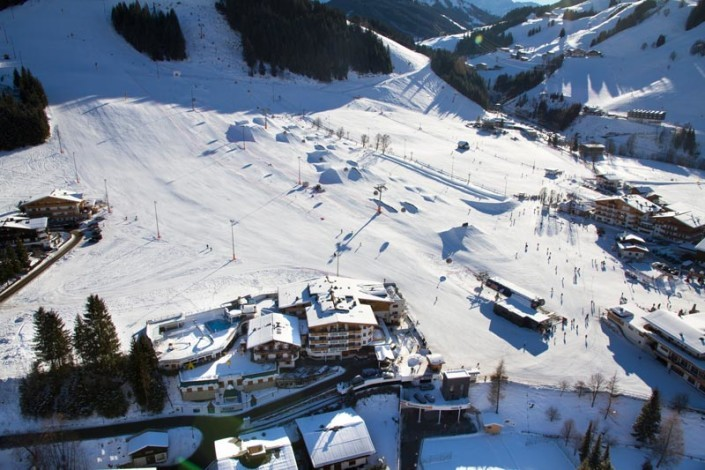 Das Hotel Egger in bester Lage in Saalbach