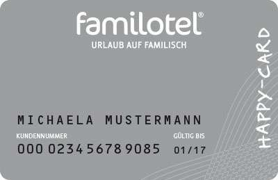 Familotel Happy Card Silber